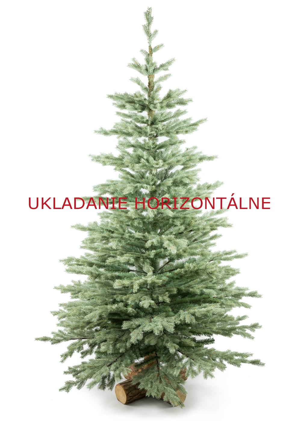 Horizontálne aranžovanie vianočného stromčeka